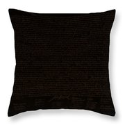 The Declaration Of Independence In Negative Brown Throw Pillow