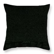 The Declaration Of Independence In Negative Olive Throw Pillow