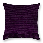 The Declaration Of Independence In Negative Purple Throw Pillow