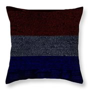 The Declaration Of Independence In Negative R W B 1 Throw Pillow