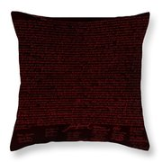 The Declaration Of Independence In Negative Red Throw Pillow