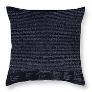 The Declaration Of Independence In Negative  Throw Pillow