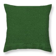 The Declaration Of Independence In Olive Throw Pillow