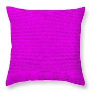 The Declaration Of Independence In Purple Throw Pillow by Rob Hans