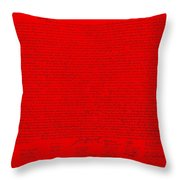 The Declaration Of Independence In Red Throw Pillow