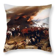 The Defence Of Rorke's Drift 1879 Throw Pillow