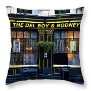 The Del Boy And Rodney Pub Throw Pillow