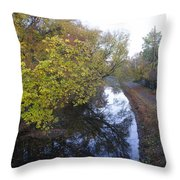 The Delaware Canal In Morrisville Pa Throw Pillow