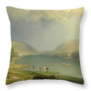 The Delaware Water Gap Throw Pillow