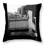 The Delft Marquette Mi Throw Pillow