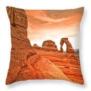 The Delicate Arch Throw Pillow