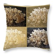 The Delicate Remains Of Winter Throw Pillow