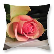 The Delicate Rose Throw Pillow