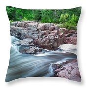 The Dells Of The Eau Claire River  Throw Pillow