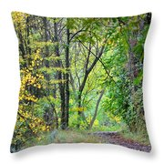 The Dense Forest Throw Pillow