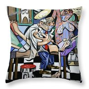 The Dentist Is In Throw Pillow by Anthony Falbo
