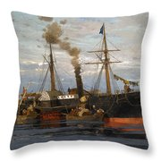 The Departure Throw Pillow