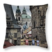 The Depths Of Prague Throw Pillow
