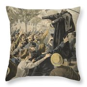 The Deroulede Meeting At The Exit Throw Pillow
