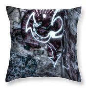 The Descent Throw Pillow by Andrew Pacheco