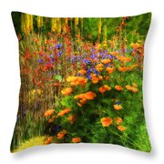 The Desert Abloom Throw Pillow