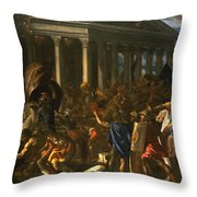 The Destruction And The Sack Throw Pillow