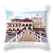 The Detroit Boat Club - Belle Isle - 1910 Throw Pillow