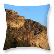 The Devil's Courthouse - Blue Ridge Parkway Throw Pillow