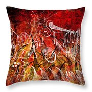 The Devil's Markings Illuminate The Fires Of Hell Throw Pillow