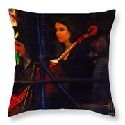 The Devil's Orchestra Throw Pillow