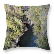 The Devil's Pool Throw Pillow