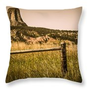 The Devils Tower Throw Pillow