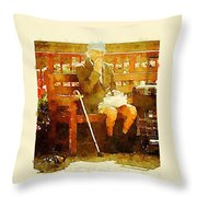 The Devonshire Man Throw Pillow