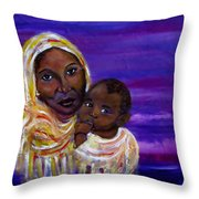 The Devotion Of A Mother's Love Throw Pillow
