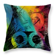 The Diagram Abstract Art  Throw Pillow