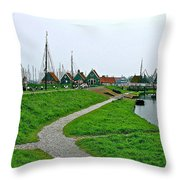 The Dike In Enkhuizen-netherlands Throw Pillow