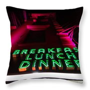 The Diner Throw Pillow