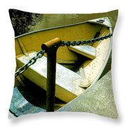 The Dinghy Image C Throw Pillow