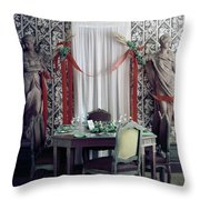 The Dining Room In James A. Beard's Home Throw Pillow