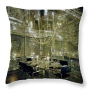 The Dining Room Of Ara Gallant's Apartment Throw Pillow