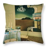 The Dining Room Of Princess Gourielli Throw Pillow
