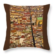 The Divided City Throw Pillow