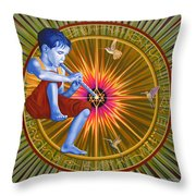 The Divine Flute Throw Pillow