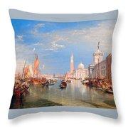 The Dogana And San Giorgio Maggiore Throw Pillow