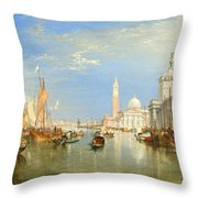 The Dogana And San Giorgio Maggiore Throw Pillow