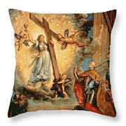 The Doge Grimani Kneeling Before Faith Throw Pillow