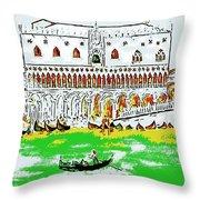The Doge's Palace Throw Pillow