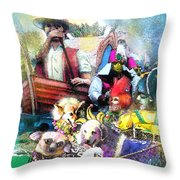 The Dogs Parade In New Orleans Throw Pillow