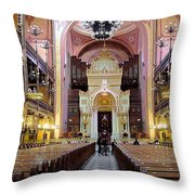 The Dohany Street Synagogue Budapest Throw Pillow