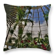 The Dome 002 Buffalo Botanical Gardens Series Throw Pillow